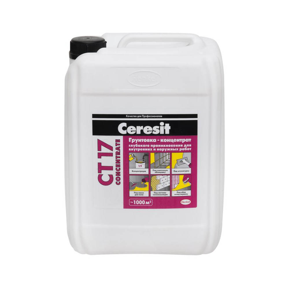 Грунтовка концентрат Ceresit CT 17 Concentrate 10 кг