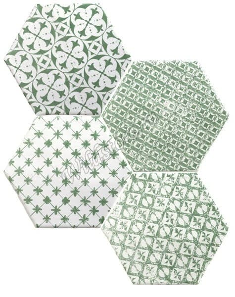 Декор Marrakech Mosaic Verde Hexagon 15x15 см
